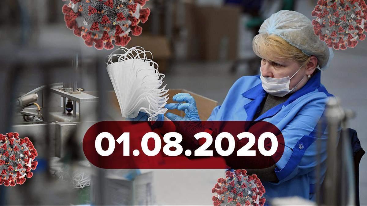 Коронавирус Украина, мир 1 августа 2020: статистика, новости