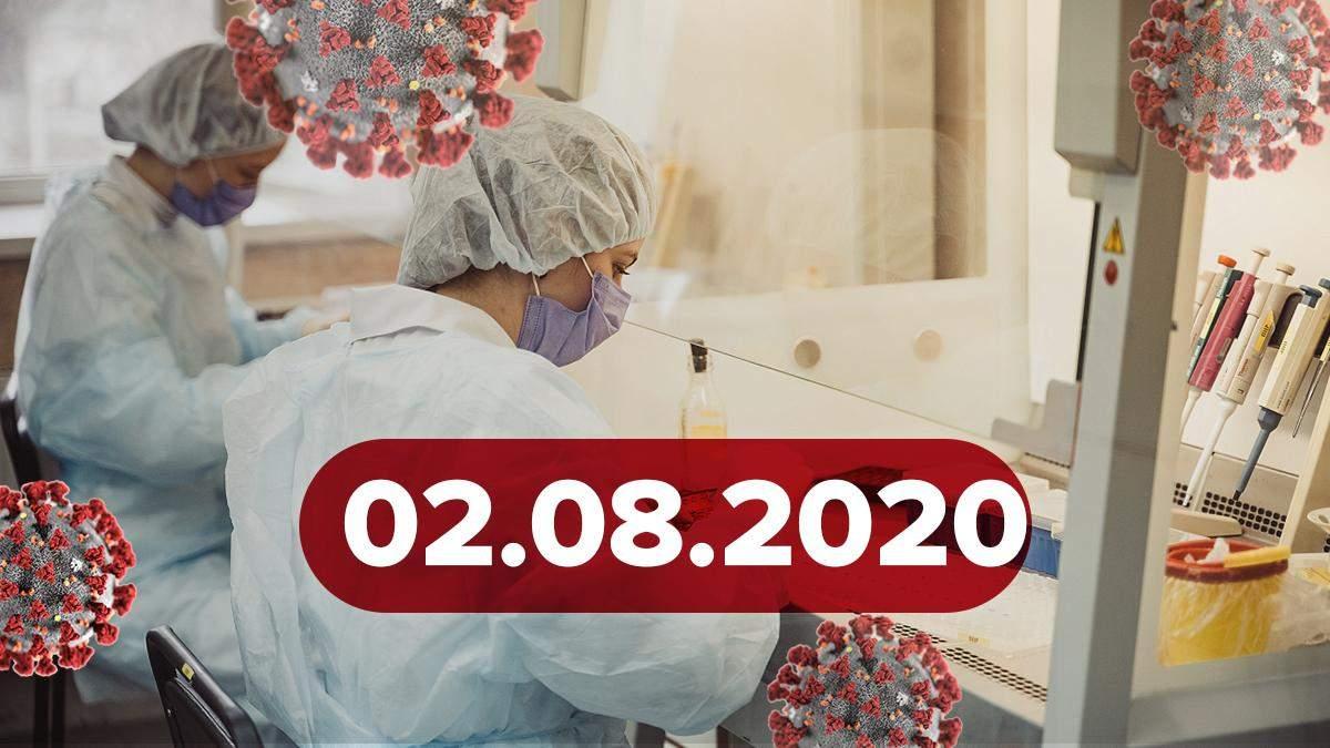 Коронавірус Україна, світ 2 серпня 2020: статистика, новини