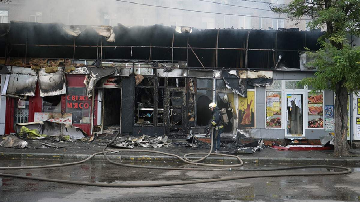 В Днепре дотла сгорели 5 киосков 31 июля 2020: фото и видео