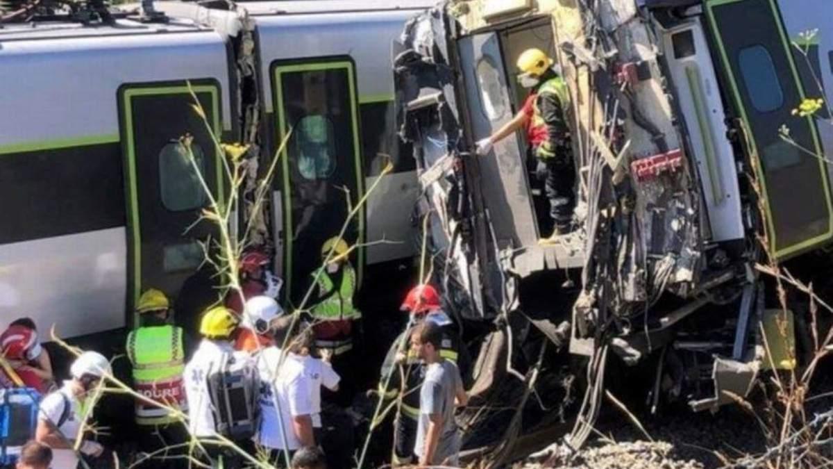 Авария с поездом в Португалии 31 июля 2020 - фото, видео