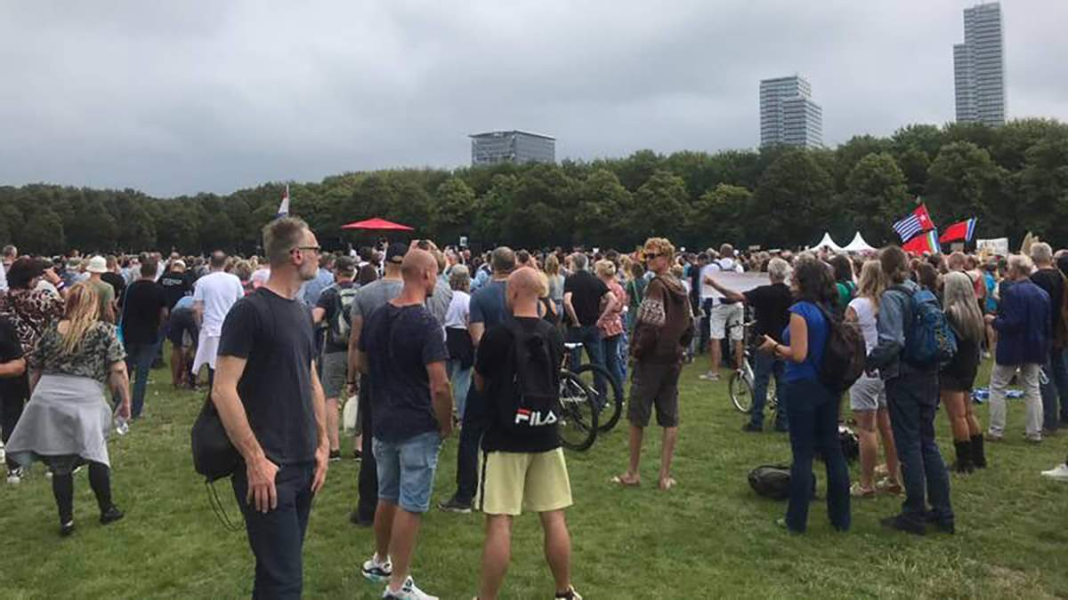 Митинг в Гааге