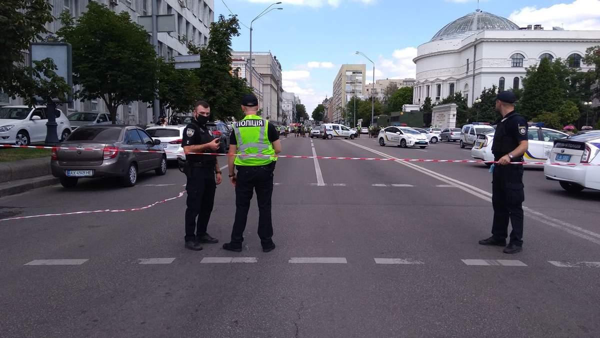 Захват Универсал банка в Киеве: требования террориста