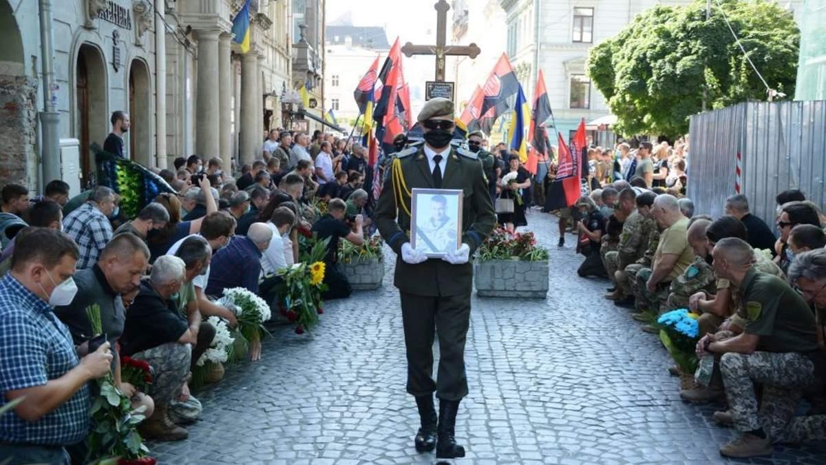 Похорон Андрія Гергерта у Львові 3 серпня 2020 – фото