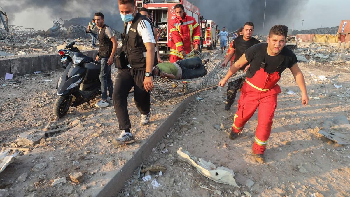 Вибух у Бейруті, Ліван 4 серпня 2020: є жертви і постраждалі