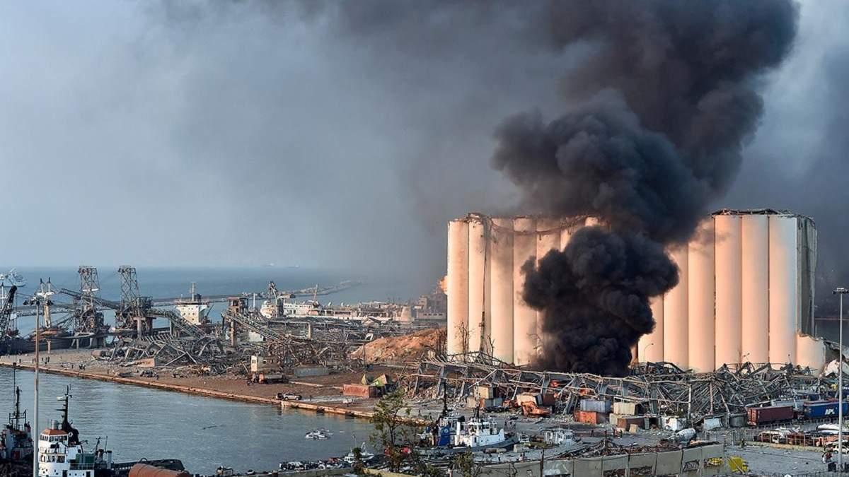 Два корабля из Украины могли пострадать от взрыва в Бейруте