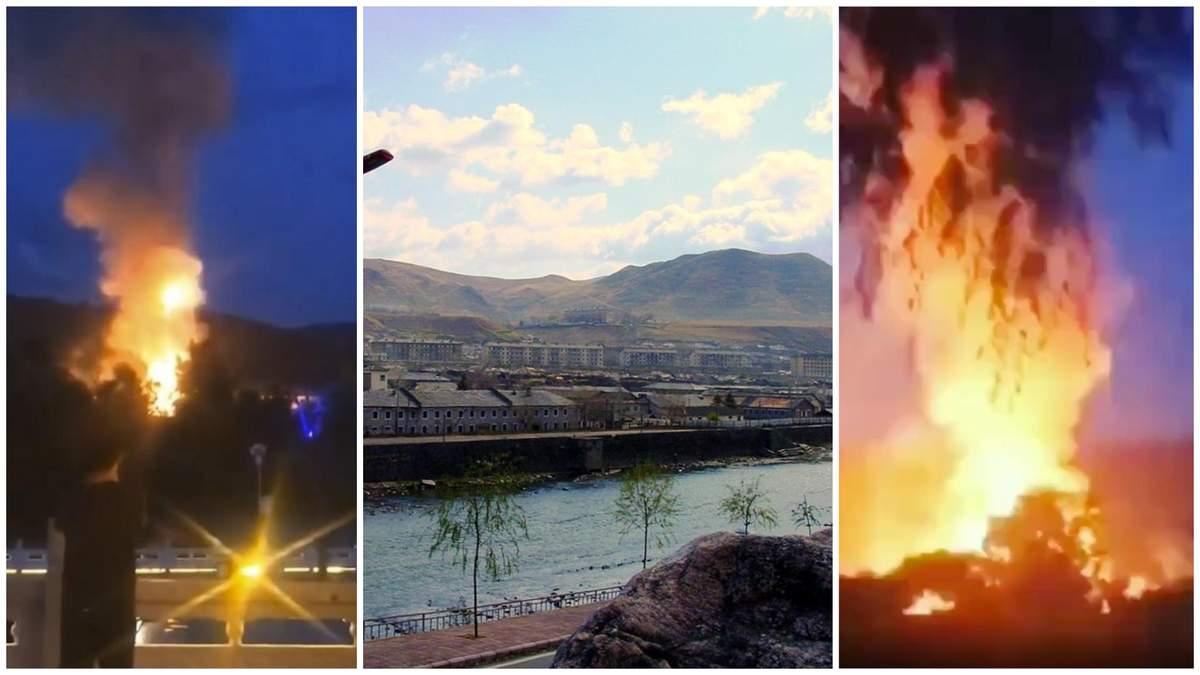 Мощный взрыв в КНДР очевидцы сняли с территории Китая: видео