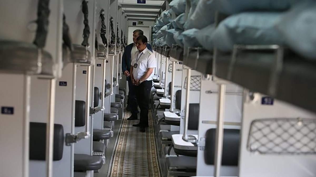 Відеокамери спостереження у поїздах Укрзалізниці