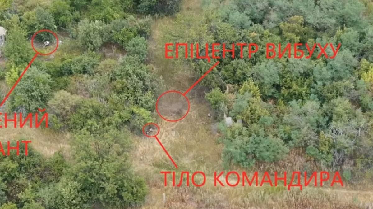 Місце загибелі українських військових під Зайцевим
