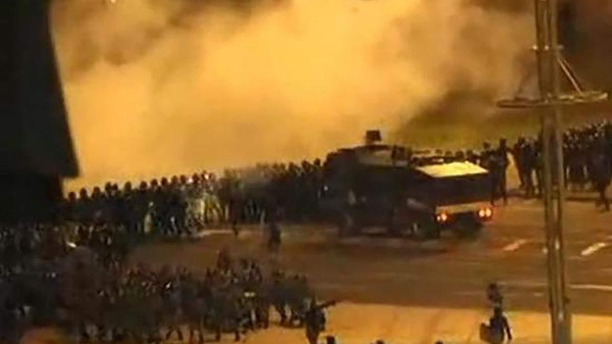 Штурм барикад протестувальників у Мінську 10.08.2020: відео