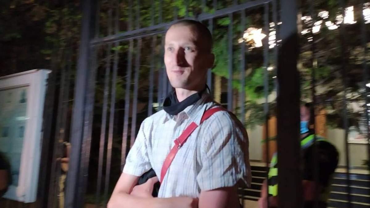 Александра Кольченко задержали на митинге под посольством Беларуси в Киеве
