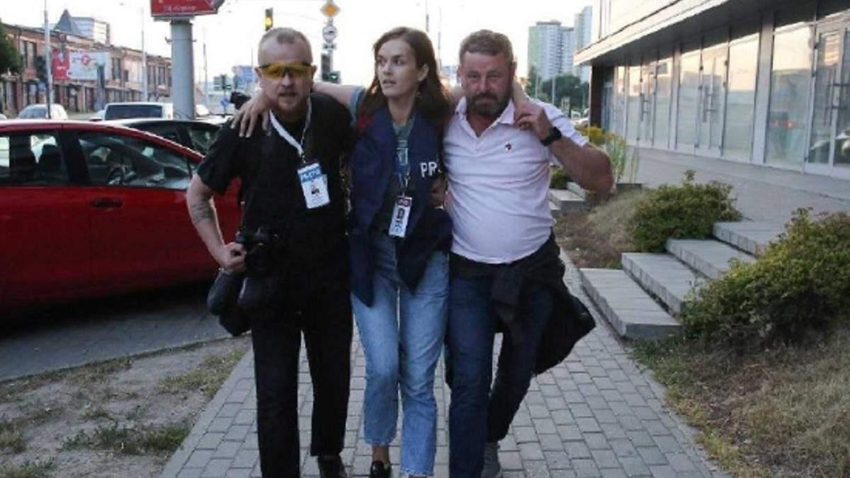 В Минске ранили журналистку Лубневську: видео стрельбы