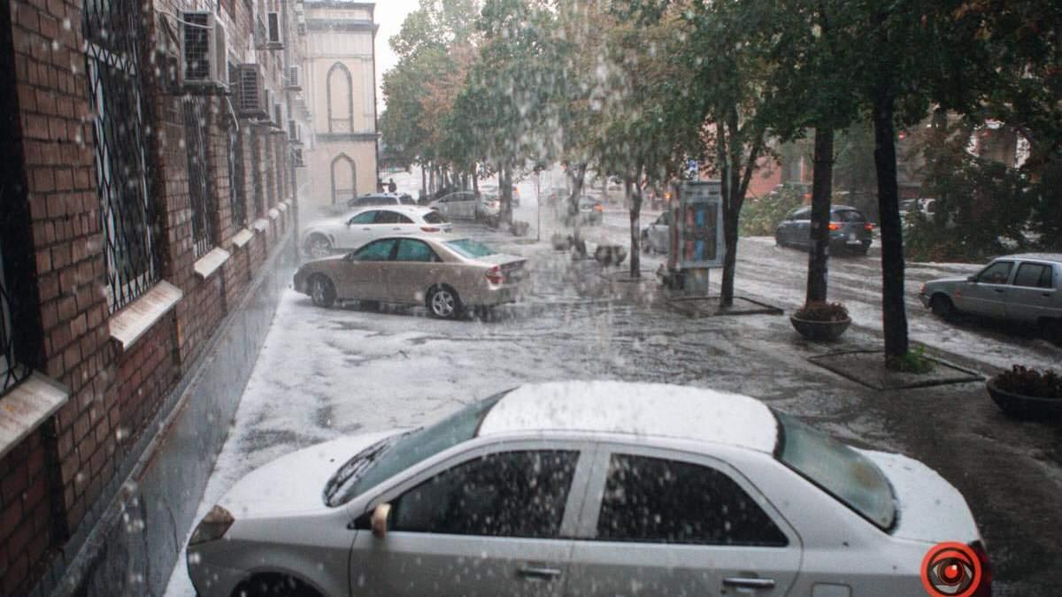 Злива і град у Дніпрі 11.08.2020: фото і відео наслідків