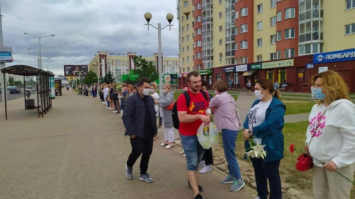 В Беларуси люди создают цепи единства