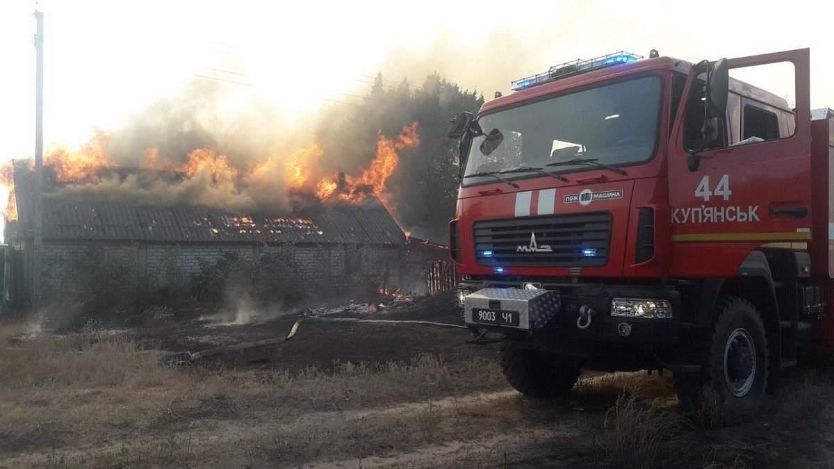 На Харківщині пожежа повністю знищила село Гороб'ївка