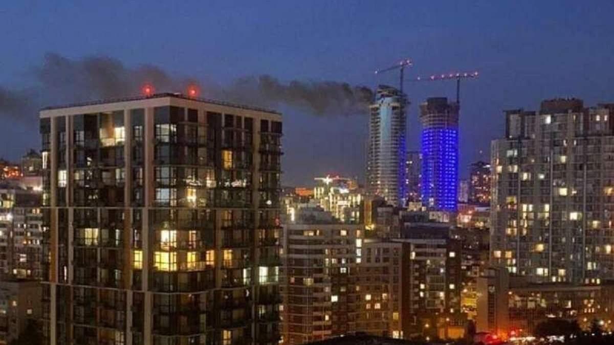 Пожежа у Taryan Towers на Печерську 02.09.2020: відео