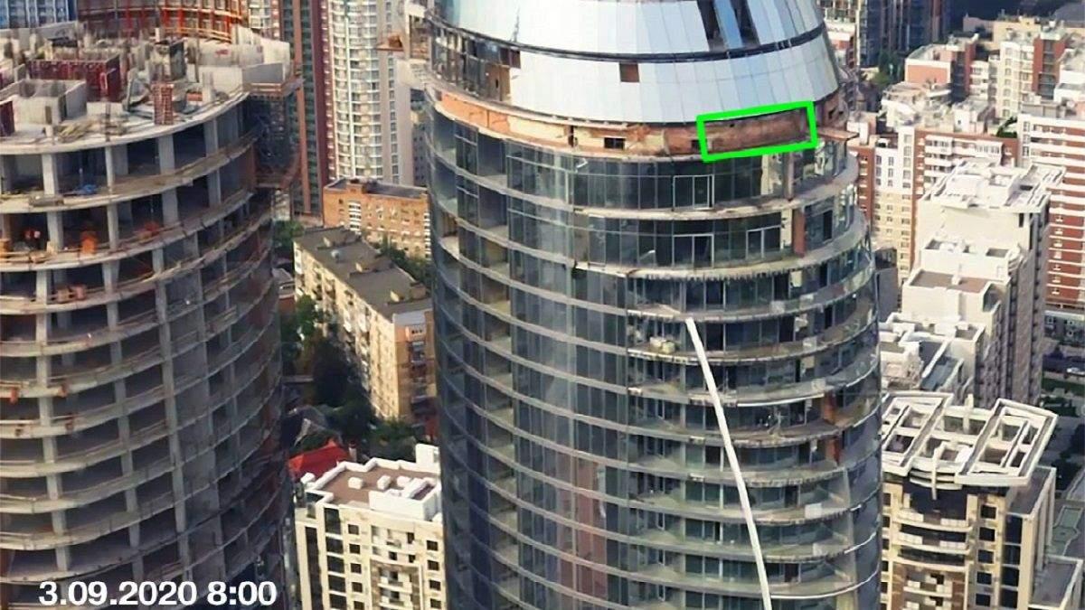 Технічний поверх ЖК Taryan Towers, де загорівся сегмент гідроізоляції