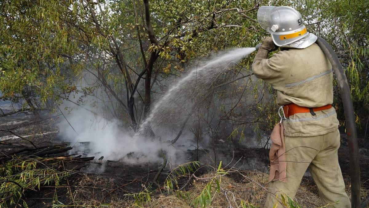 Пожежа на Донеччині у селі Гладосове 5 вересня 2020