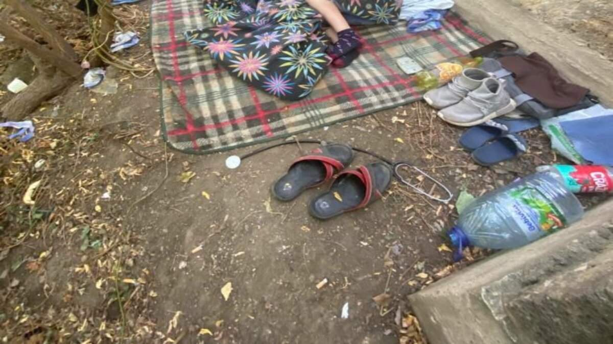 9-річний хлопчик ночував в парку