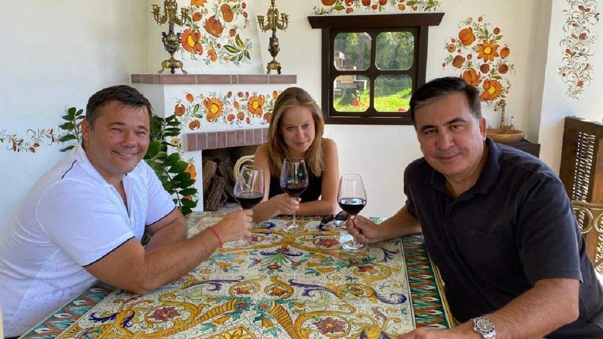 Саакашвілі прокоментував фото з Богданом та Яцко