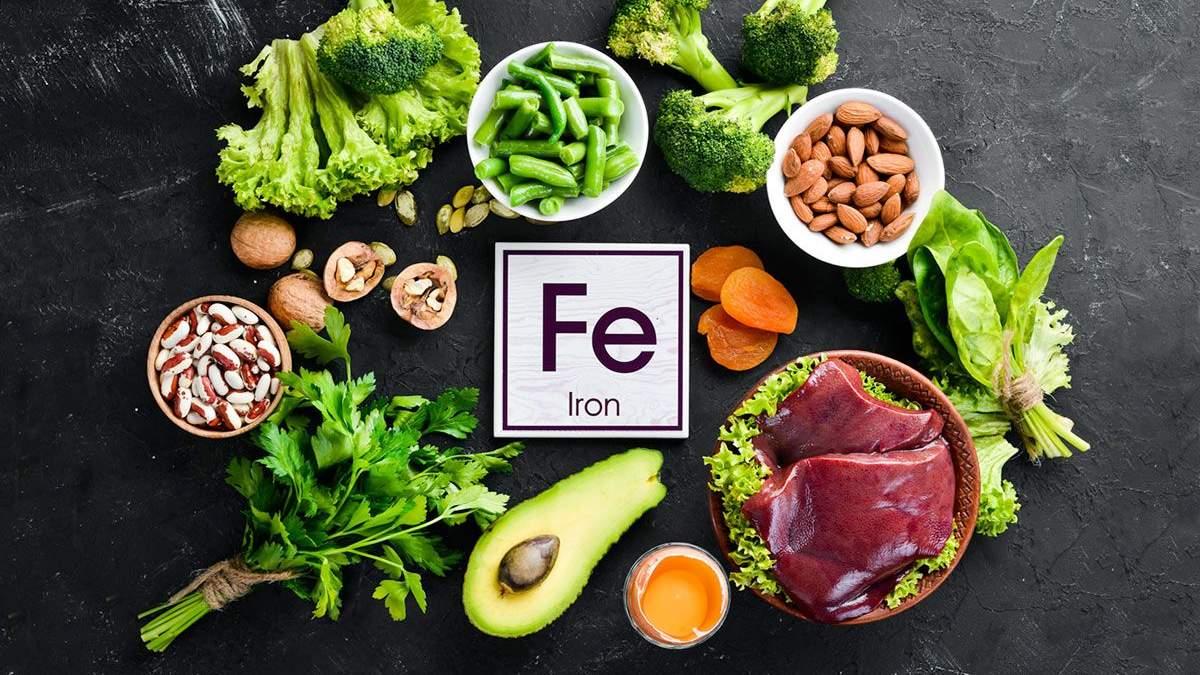 Здорове харчування – властивості заліза, в яких продуктах міститься