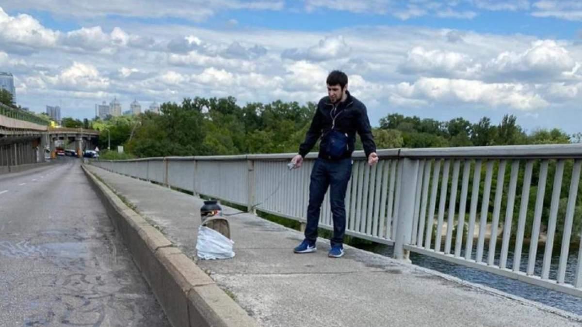 """""""Минера"""" моста Метро признали вменяемым и выпустили из больницы: детали"""