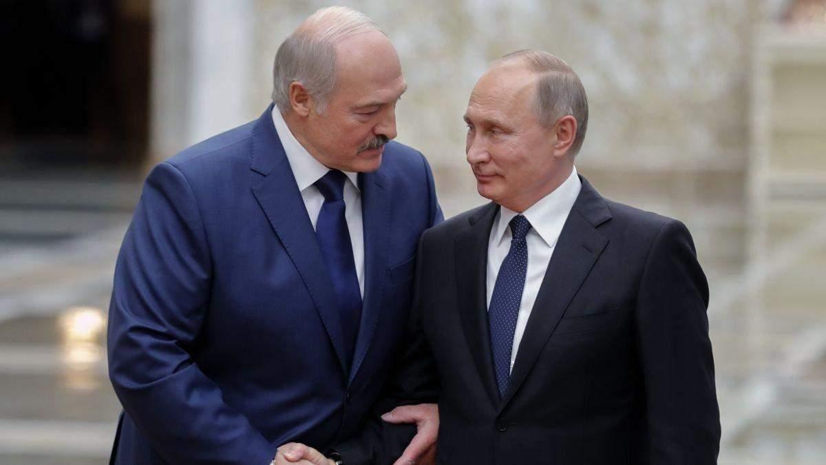 Олександр Лукашенко иа Володимир Путін