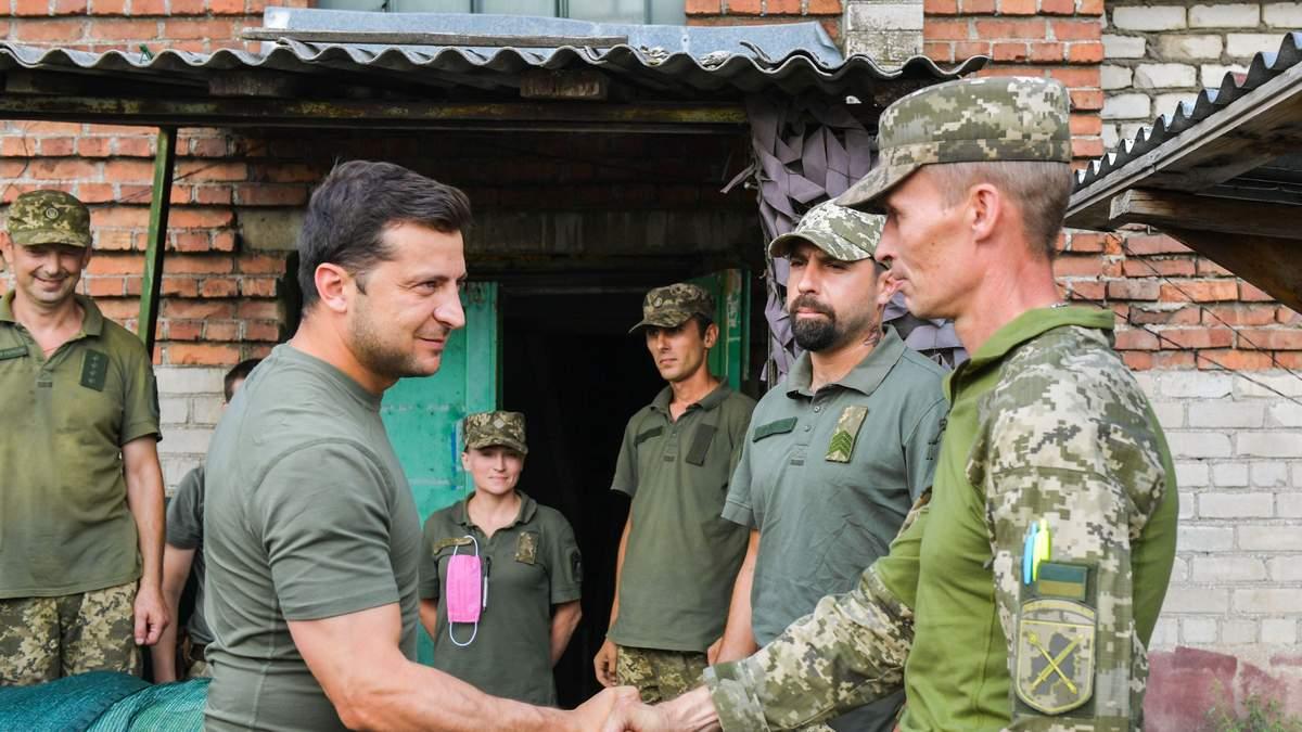 Владимир Зеленский на востоке Украины