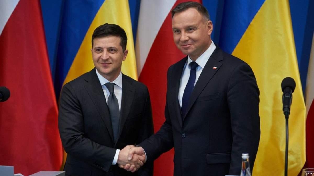 Зеленський поговорив з Дудою: які теми обговорювали президенти