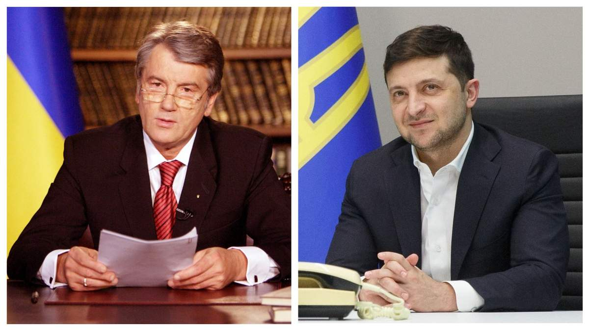 Третий президент Украины Виктор Ющенко и действующий президент Владимир Зеленский