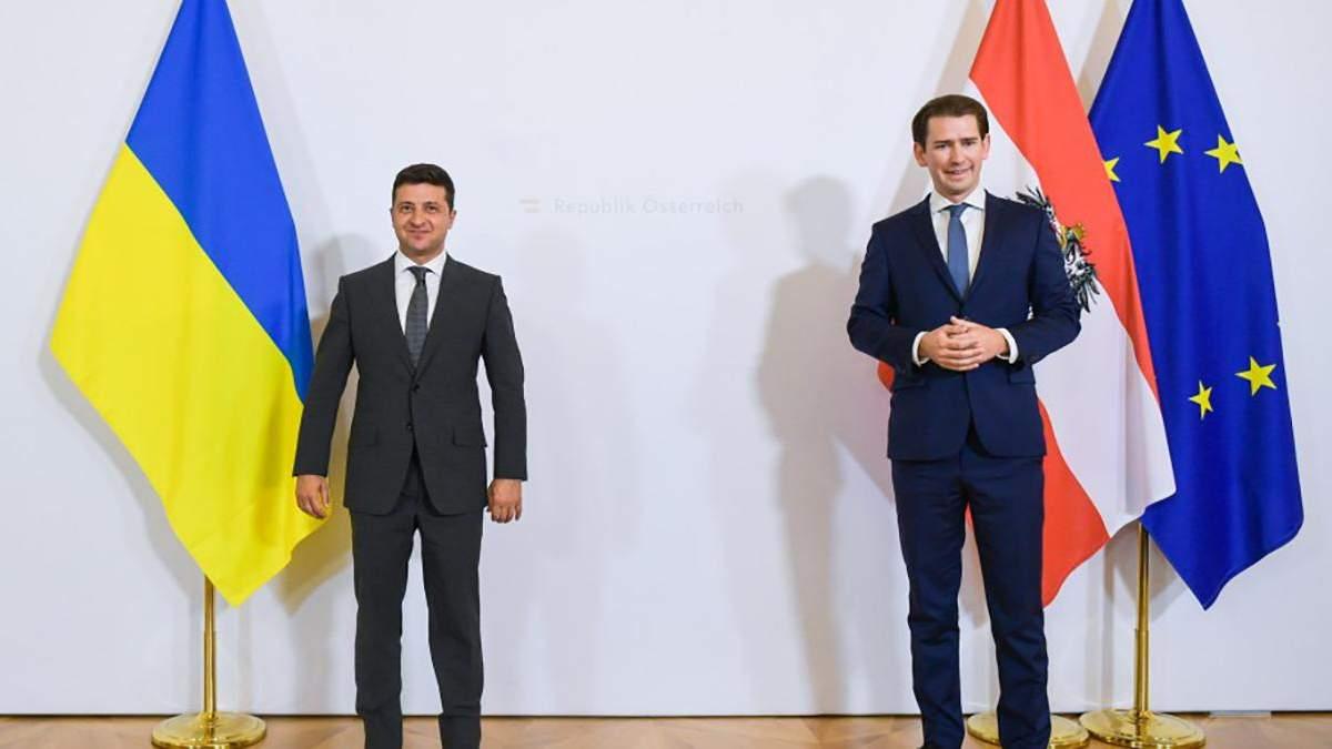 Владимир Зеленский и Себастьян Курц
