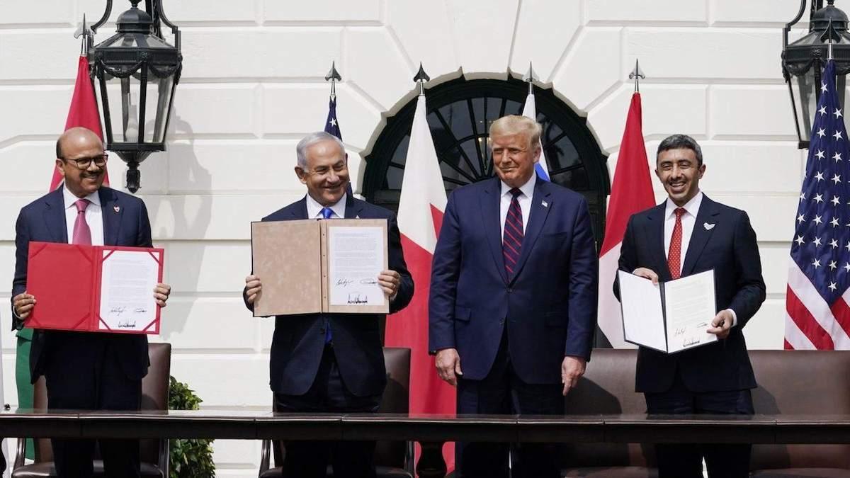 Ізраїль, ОАЕ і Бахрейн підписали Угоду Авраама: що про це відомо