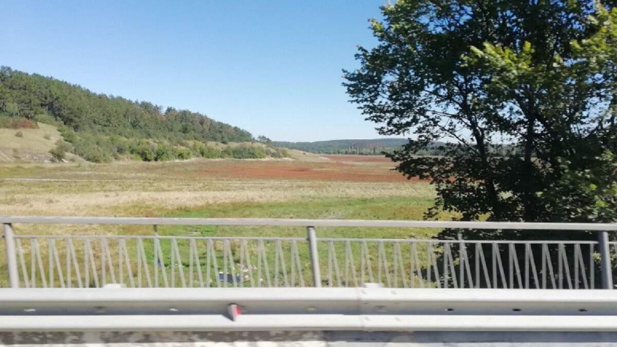У Криму повністю висохло Сімферопольське водосховище