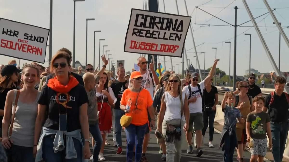 Протести проти карантину в Іспанії, Німеччині : фото, відео - 24 Канал