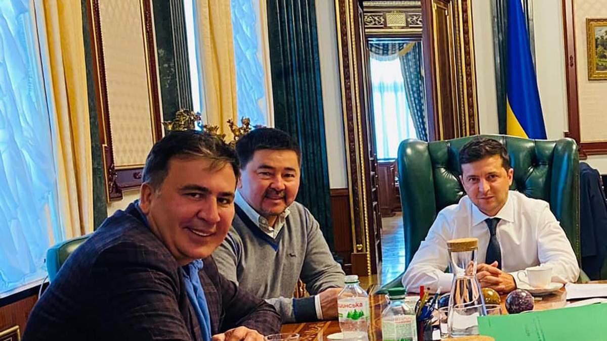 Михаил Саакашвили, Маргулан Сейсембаев и Владимир Зеленский