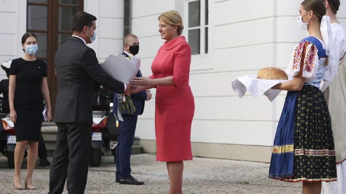 Зеленский встретился с президенткой Словакии: о чем договорились
