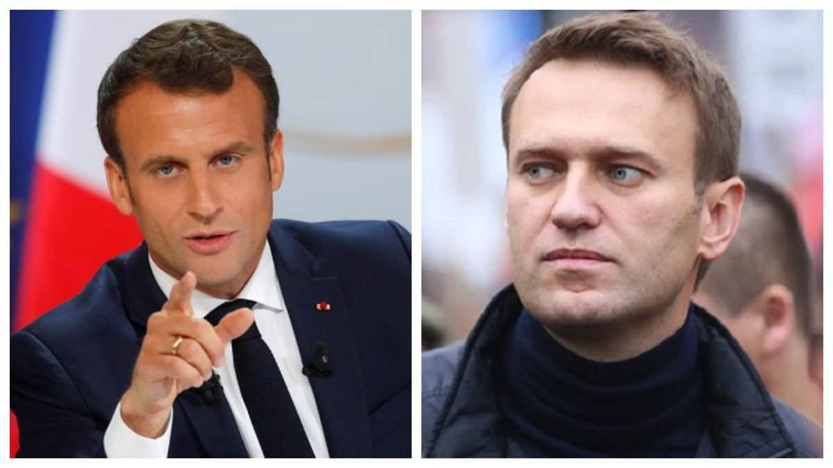 Макрон пояснив, чому саме Росія має пояснювати отруєння Навального