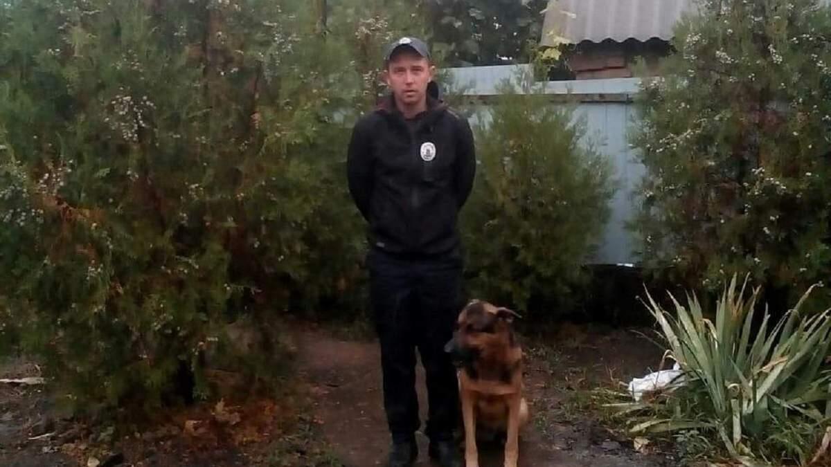 Службова собака спіймала грабіжників, які жорстоко побили пенсіонерку