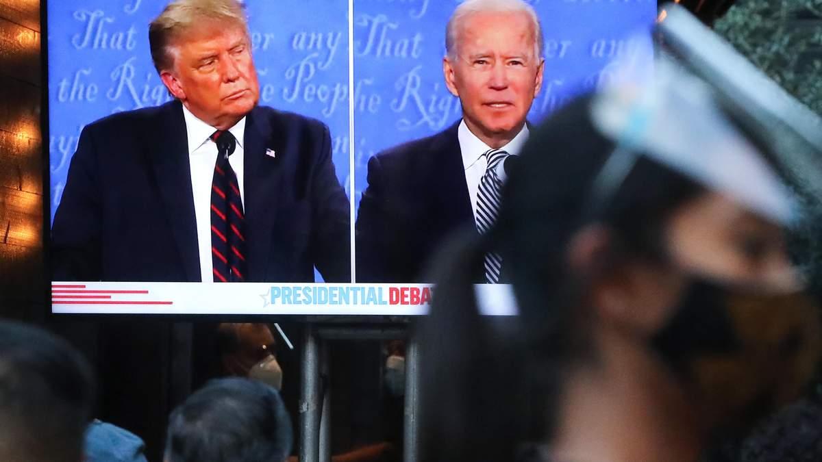 ІноЗМІ називають дебати Трампа та Байдена хаосом