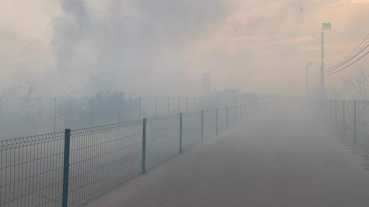 Лісові пожежі на Луганщині: пожежу біля КПВВ локалізували