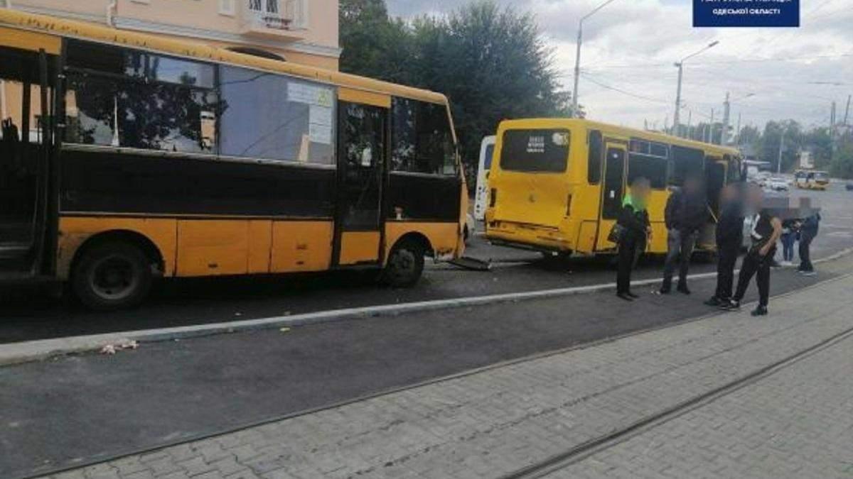 ДТП з маршрутками в Одесі 01.10.2020: фото і відео
