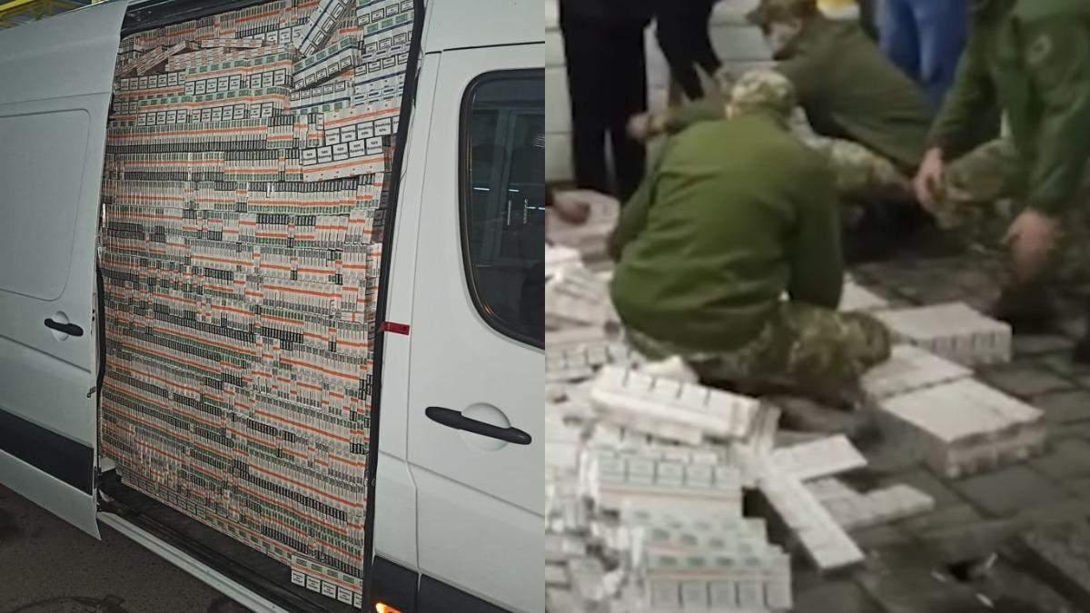 У бусику псевдодипломата знайшли 200 тисяч пачок сигарет