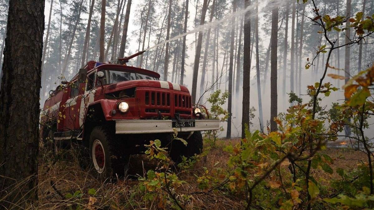 Лісові пожежі в Луганській області ліквідували 08.10.2020