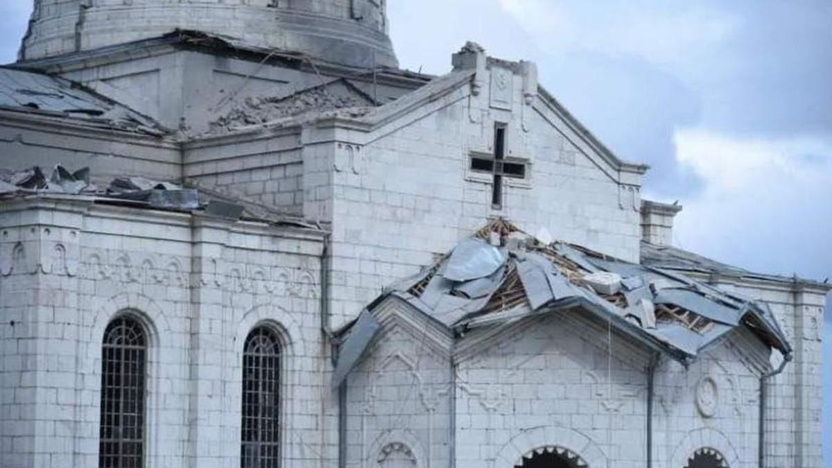 Обстріл собору, захоплення Азербайджаном танків 8.10.2020: фото, відео