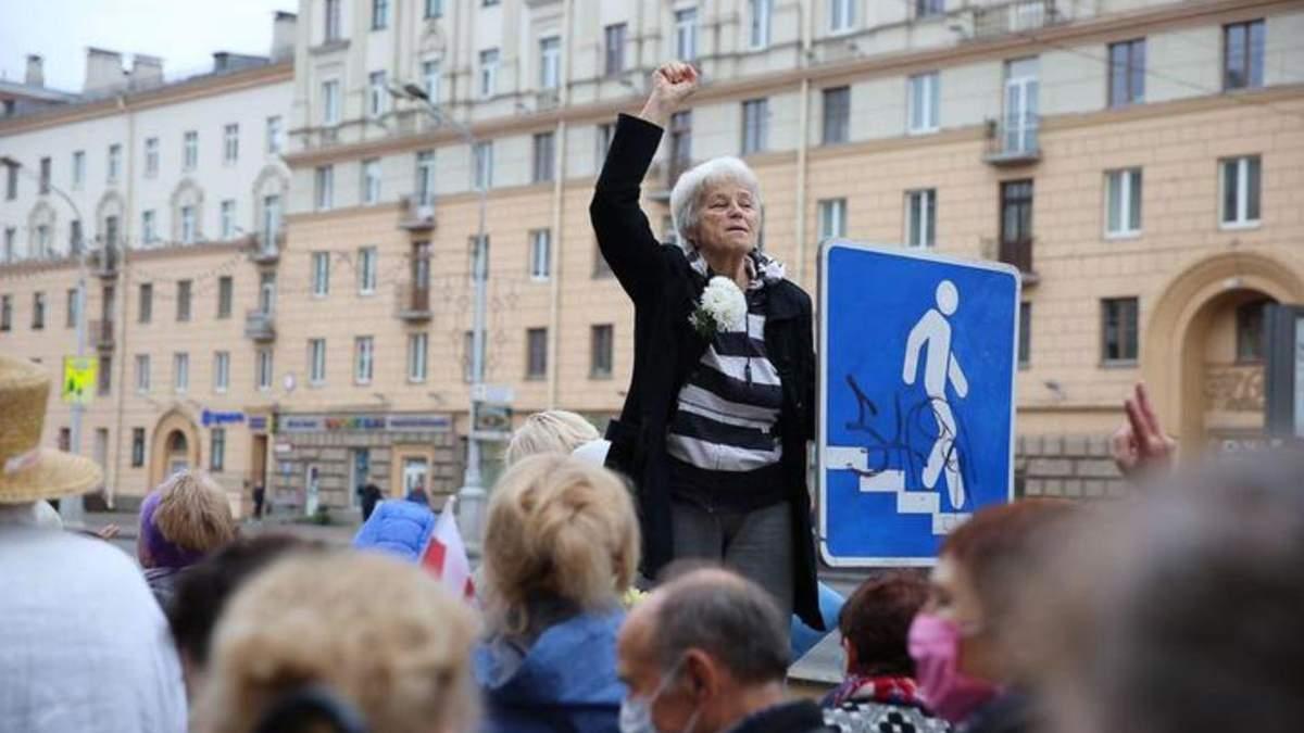 Режим переступив межу, – Тихановська про насилля під час акції пенсіонерів