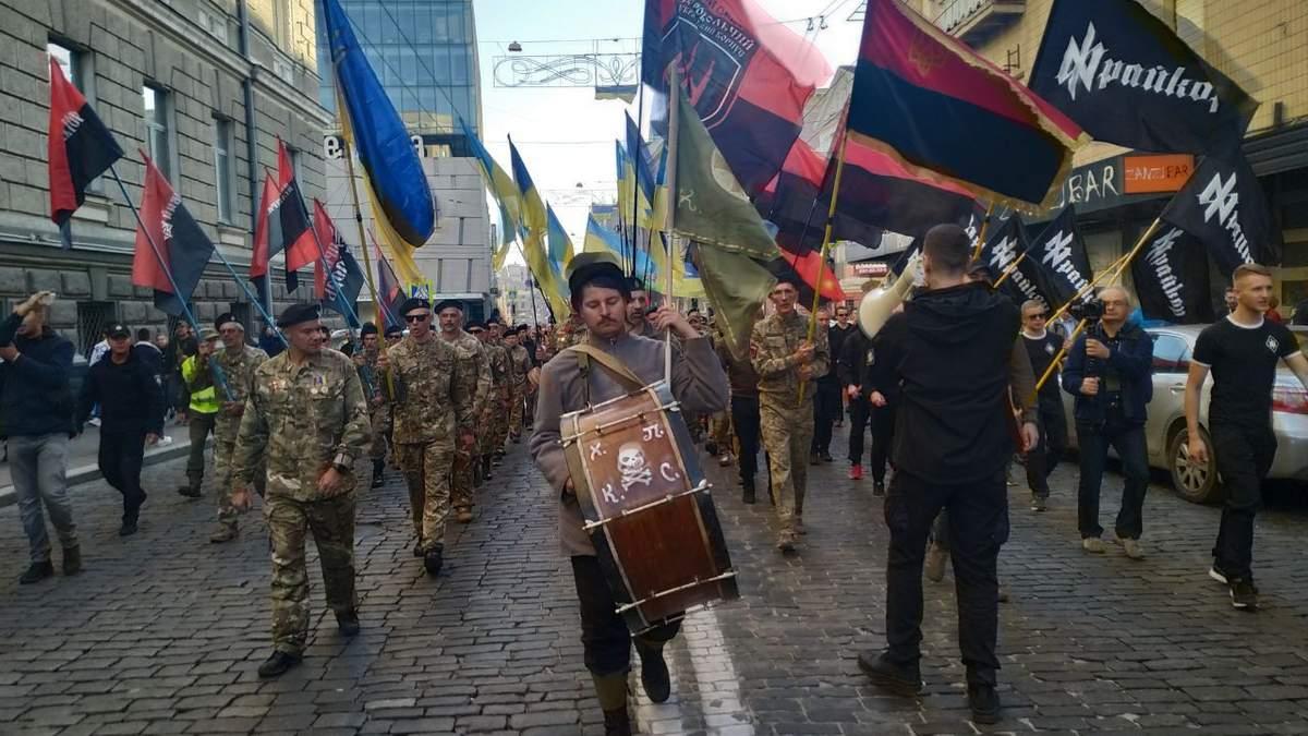 Марш до Дня захисника 2020 в містах України: фото, відео
