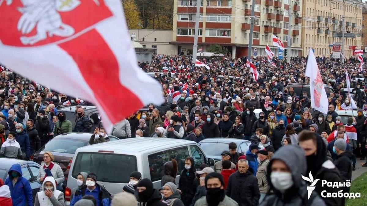 Протести в Білорусі 18 жовтня 2020: новини, відео