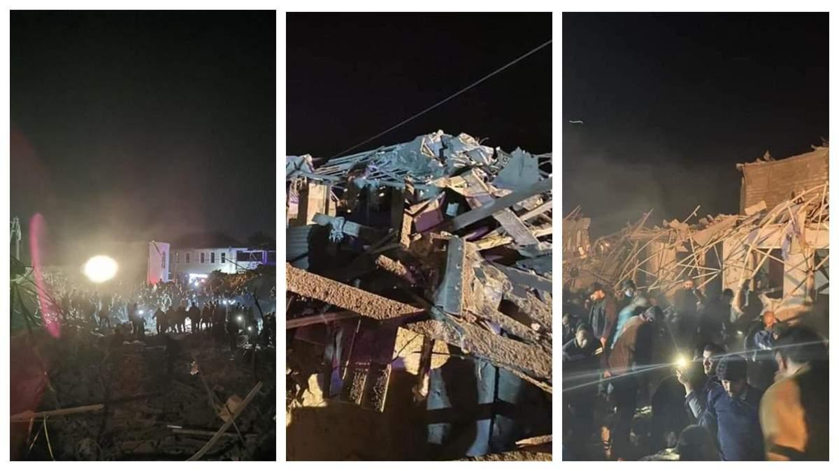Житлові квартали міста в Азербайджані обстріляли ракетами: фото, відео