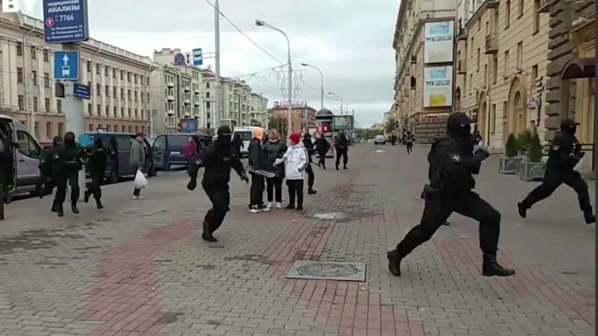 Затримання на акції студентів у Білорусі