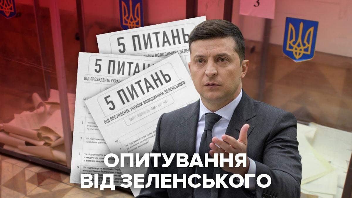 Опитування Зеленського на виборах 25 жовтня, 5 питань – фото і відео