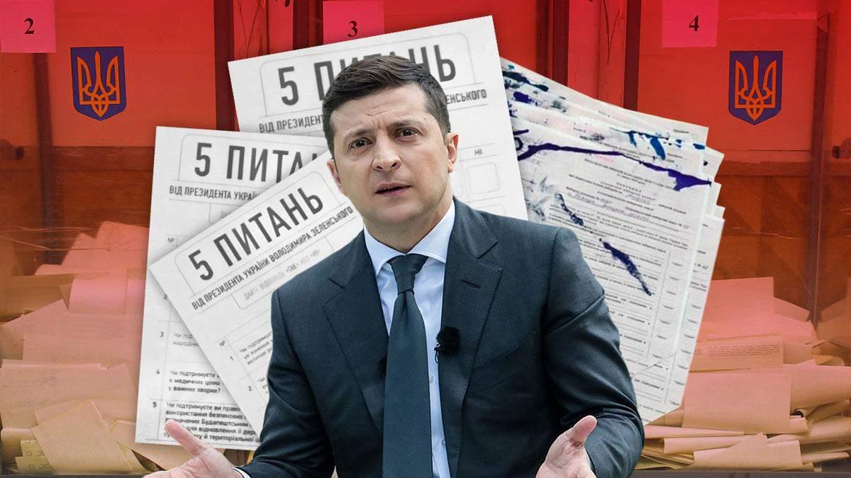 Опрос Зеленского 25 октября 2020, 5 вопросов – нарушения на участках